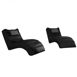 LOS ANGELES Chaise Lounge - BLACK