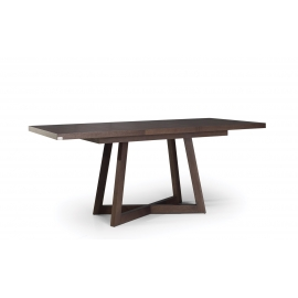 BRISH Wood Top Dining Table With Extension