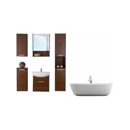 SESO Single Bathroom Vanity Set with Mirror and Cabinets 6 Piece
